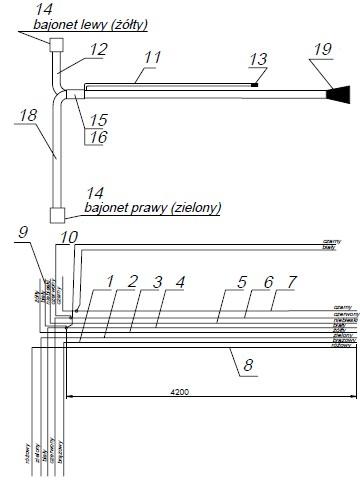 Kabelbaum für Anhänger mit Umrissleuchten inkl. 13-poliger Stecker ...