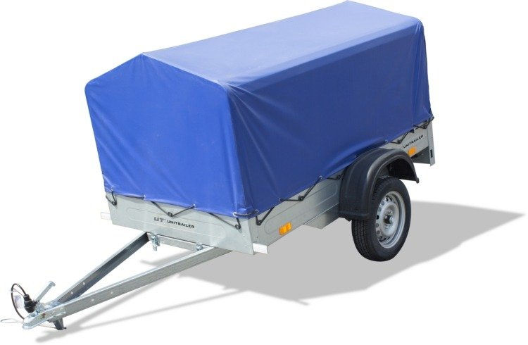 Hochplane mit Hochspriegel für PKW-Anhänger