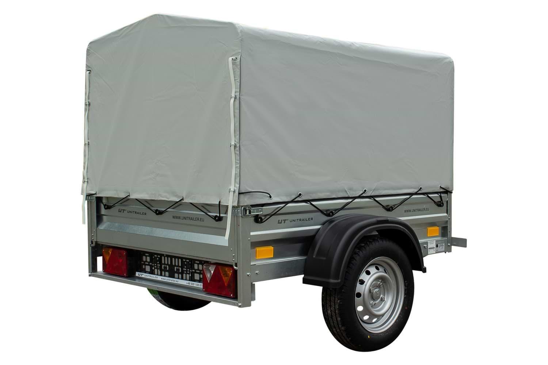 tieflader garden trailer 150 mit hochplane und. Black Bedroom Furniture Sets. Home Design Ideas