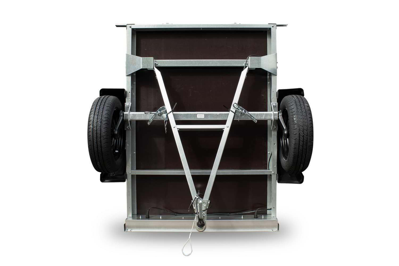 Tieflader Garden Trailer 150 mit Hochspriegel und Hochplane