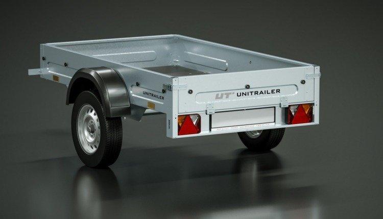 Tieflader Home Trailer 200 mit Hochspriegel und Hochplane,195x111 ...